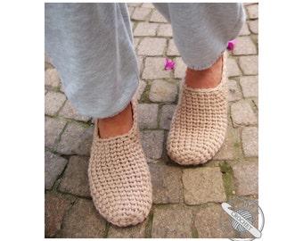Crochet-Knit Casual Slippers - Crochet Pattern - Instant Download Pdf