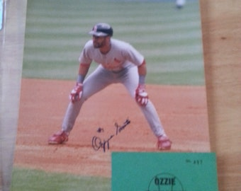 Ozzie Smith H.O.F. Autograph 8X10 Photo