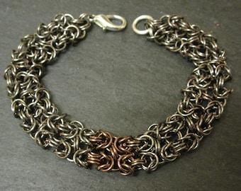 Wide Byzantine Chainmail Bracelet