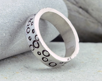 Sterling Silver Ring,Stamped Rings, Handmade Rings, Nature Jewelry, Accessories, Fashion Jewelry, Boutique