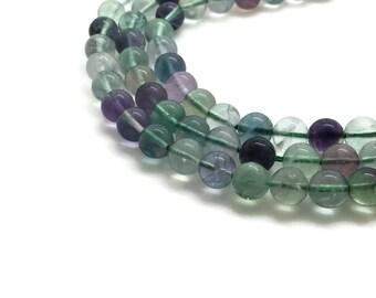6mm Natural Fluorite Beads Round 6mm Fluorite 6mm Rainbow Fluorite Stone Fluorite Round Fluorite Supplies Beads 6 mm Beads 6 mm
