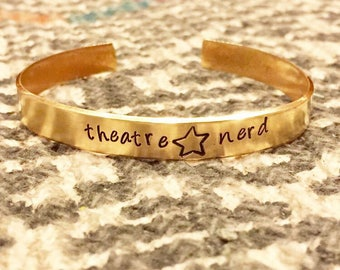 Create your own custom Hand Stamped word name quote cuff bracelet