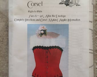 Sewing Pattern #1 BIjoux Ladies,  Victorian, Corset Sizes 6-40