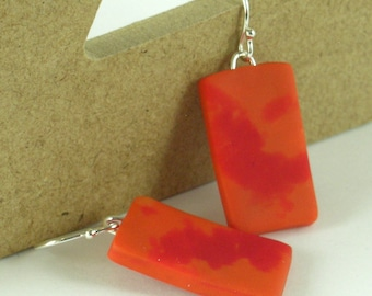 Tequila Sunrise earrings - orange and red (RO-R-P-1)