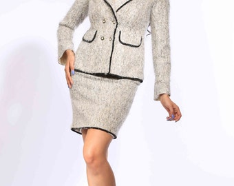 Abby's Classic Two-piece Skirt Suit Set