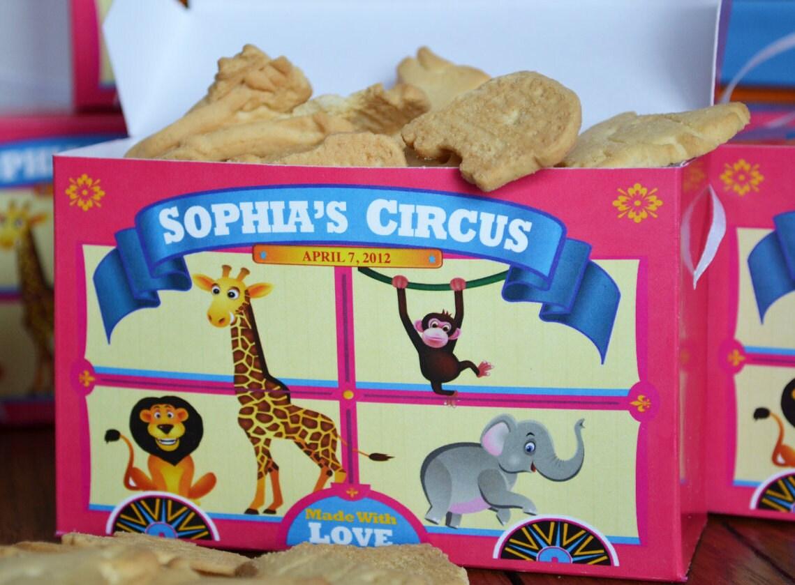 Carnival Toy Box Pink: Pink Animal Cracker Boxes Carnival Theme Birthday Circus
