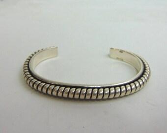 Estate Sterling Silver Cuff Bracelet 34.4g E3476