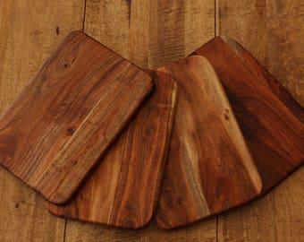 1x Solid Acacia Wood Board Placemat Chopping Board Food Tray Server 24cm x 35cm x 1cm ACA-PMATS