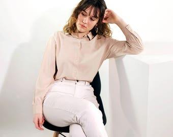 Blush Vintage Shirt Blouse (M/L)