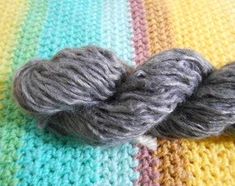 Silvery Grey - Acrylic/Wool Blend - 160 yards - Worsted weight - Recycled, Reclaimed, Upcycled