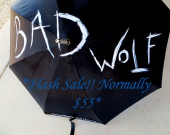 Bad Wolf Doctor Inspired Painted Umbrella