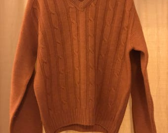Vintage Jantzen Wool V-Neck Sweater (Medium)