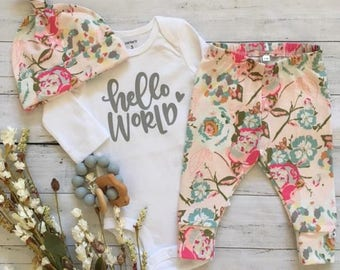 NEW! Pretty in Pink/Newborn Outfit/Bring Home Outfit/Toddler leggings