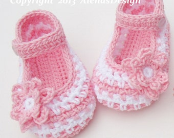 Crochet Booties Pattern 076 - Crochet Baby Shoes Pattern - Crochet Slipper Pattern - Crochet Boot Pattern Baby Boy Baby Girl Mary Jane Shoes