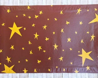 Allover Star Pattern Floor Cloth, Painted Canvas Rug, Country, Primitive Decor, Floor Cloth