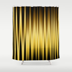 Black Shower Curtain Striped Curtains Solid Yellow Curtain Abstract Curtain  Curtain Brown Curtain Nature Colors 60x72