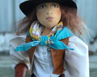 Cowgirl Art Doll