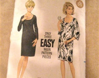 60s Butterick Dress Pattern 4515 Vintage