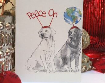 Boxed Labrador Holiday Cards