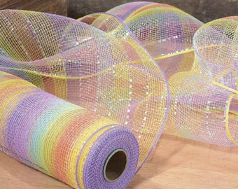 Rainbow Decorative Mesh Fabric cm 24 width mt 6