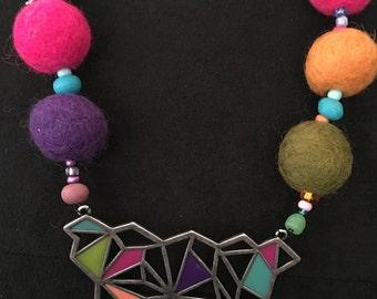 Trending Now!  Felt Ball Jewelry