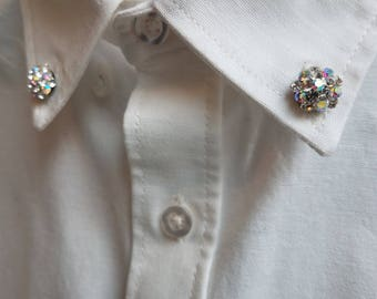 Swarovski Crystal Collar Pin Set