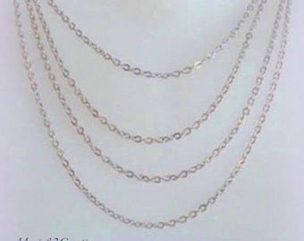 Chain 3 X 2.50 mm oval link & flat - stainless steel