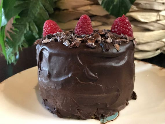 Vegan Gluten Free  Matcha Dark Chocolate   Mini birthday cake!