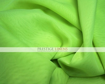 "120 YARDS 360 ft Voile Fabric 118"" Wide - Sheer Voile Drape Drapery Fabric Chiffon Fabric - LIME"