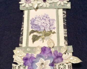 Gift Tag, Vintage Tag, Garden Party Tag, Bridal Shower Tag, Lace Tag, OOAK