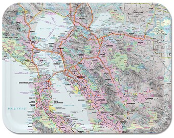 """San Francisco Bay Area Street Map Tray 16 1/2""""x12 1/2"""""""