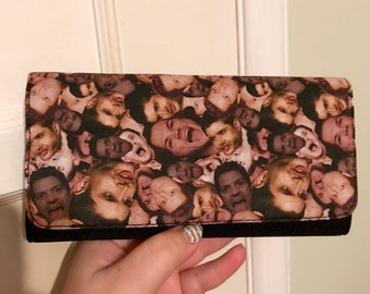 Wallet made with Supernatural characters fabric (Sam, Dean and Castiel)
