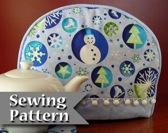 Tea cozy pattern | DIY tutorial | Tea cosy sewing pattern | PDF | Instant download | Teapot cozy | Tea warmer | Tea pot cover