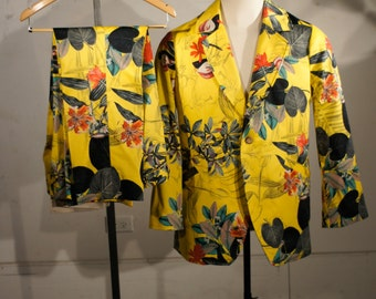 Shocking Printed Suits--In Floral or the Pattern of Your Dreams
