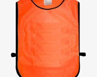 High Visibility Hi Vis Viz Orange Tabard Safety Waistcoat