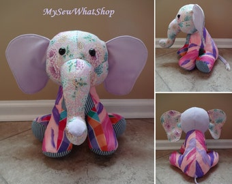 Elephant Stuffed Elephant Memory Elephant Keepsake