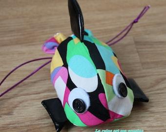 Fish geometric pouch...