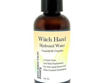 Witch Hazel Hydrosol Water With Leucidal®, Toner & Serum Additive, 4oz.