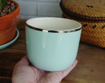 SALE, Vintage Pottery, Ballerina Mist #2, Universal Ovenproof Bowl, Cinderella, Union Made in U.S.A, Pastel Blue Green, U.S.A Pottery