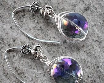 earrings, French hook earrings, blue quartz earrings, blue earrings, bohemian earrings, boho chic earrings, Christmas for her, gifts for her