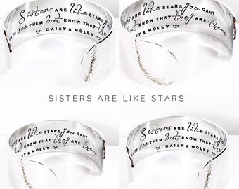 Womens gift | Sister Gift | Sister Jewelry| Personalized Jewelry | Handstamped Jewellery | Gift for her By Glam and Co (C063)