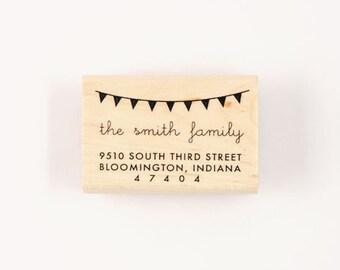 custom rubber bunting address stamp