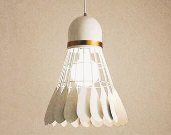 Simple/personalize/fun/recycled-original DIY tutorial of 3D badminton light/lamp/night
