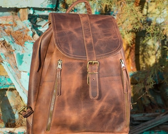 Womens leather backpack Leather rucksack bag Brown leather backpack brown backpack laptop bag Leather school bag FREE SHIPPING!