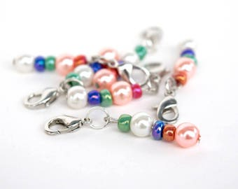 Beaded Stitch Markers for crochet.