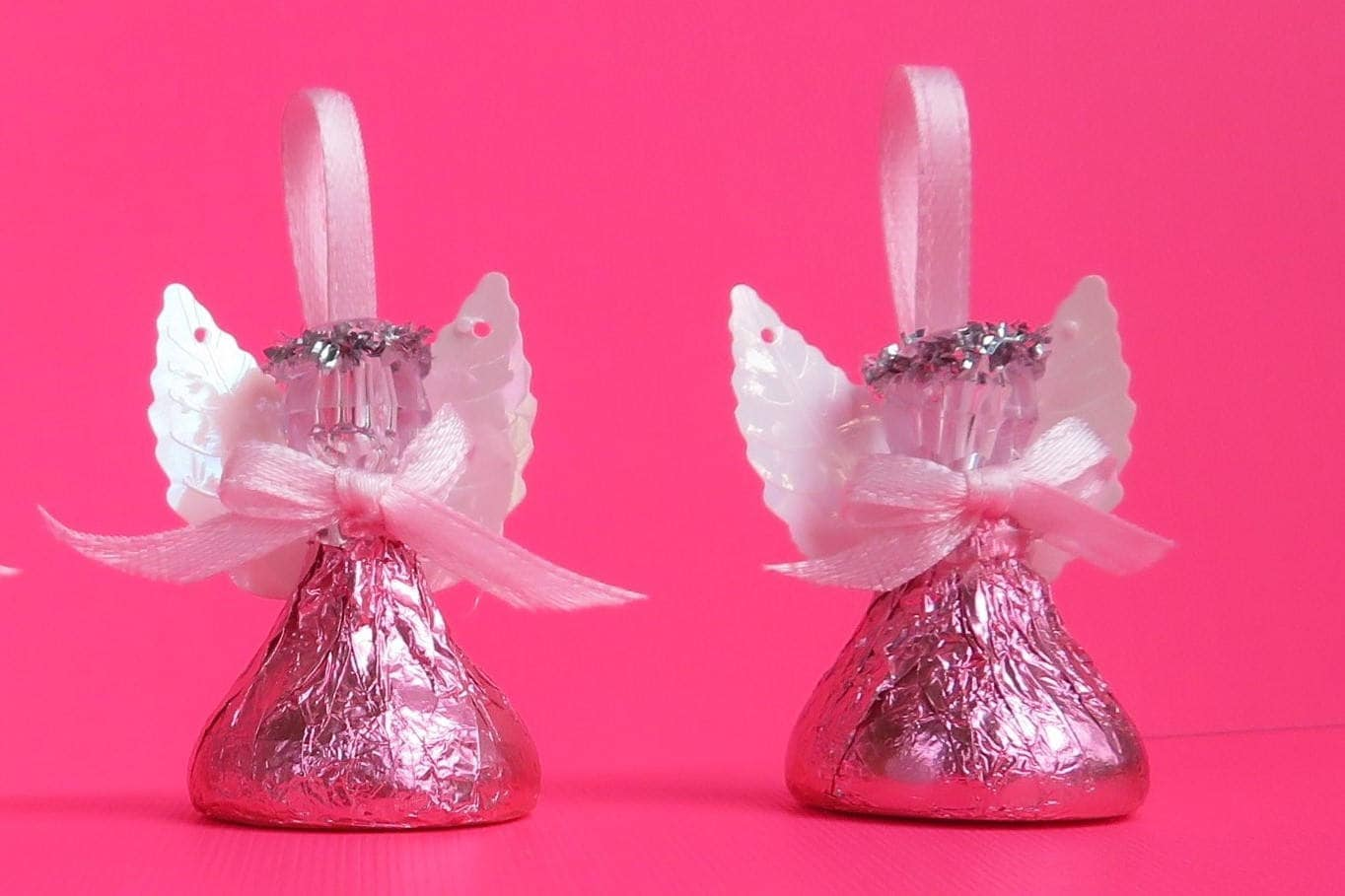 PINK Chocolate Candy Angels Set of 48 Angels Wrapped With