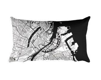 Copenhagen Pillow, Copenhagen Decor, Copenhagen Throw Pillow, Copenhagen Map, Copenhagen Art, Copenhagen Denmark, Map of Copenhagen, Cushion