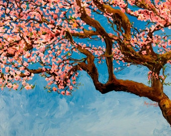 Cherry Tree--16x20 Fine Art Canvas Print