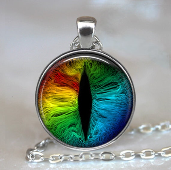 pendant necklace watch pocket charm eye rainbow dragon dp