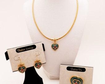 Vintage Premier Designs Jewelry Set